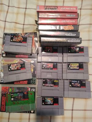 Super Nintendo SNES & Sega Genesis games Trade for MTG or Nintendo Switch for Sale in Sterling Heights, MI