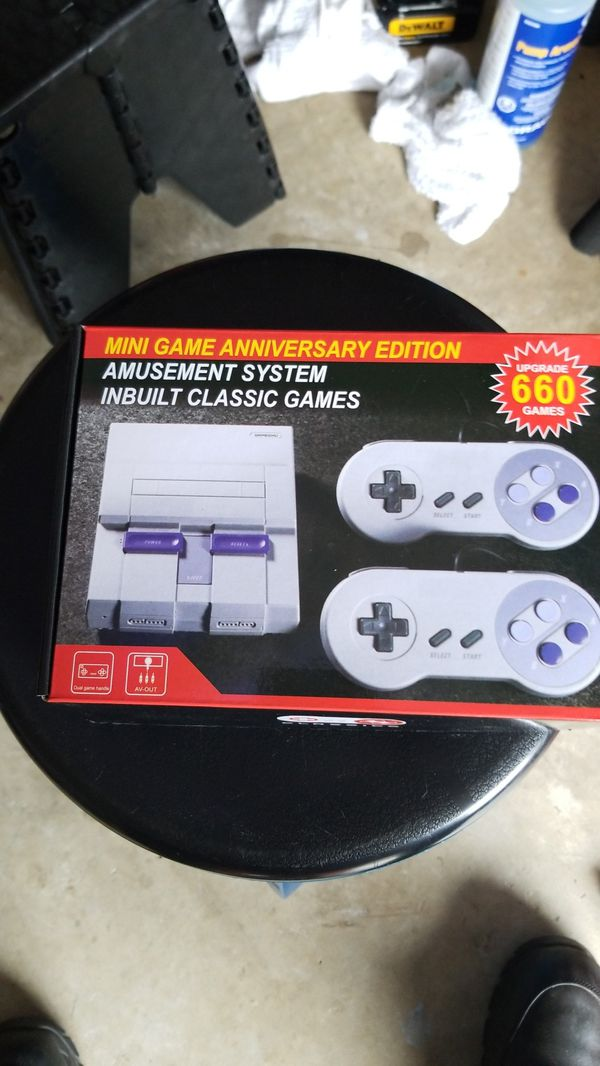 Super Nintendo Mini 660 Games built in