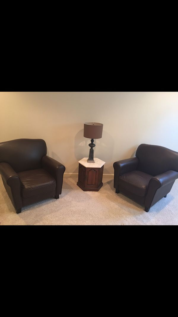Set of two leather chairs