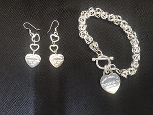 Tiffany & Co bracelet with matching earrings for Sale in Zephyrhills, FL