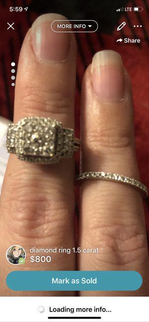 1.5 carat white gold diamond ring size 7 for Sale in Jonesborough, TN