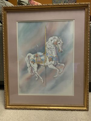 Frame hand painted carousel horse for Sale in Raleigh, NC