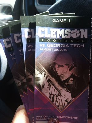 Clemson vs Georgia Tech tickets for Sale in Seneca, SC