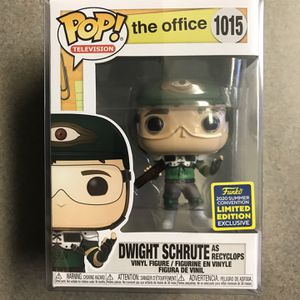 Recyclops Dwight Schrute Funko Pop *MINT* The Office 2020 SDCC Walmart Exclusive 1015 with protector for Sale in Lewisville, TX
