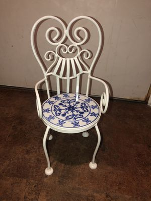 Metal & tile potted plant holder chair for Sale in Phoenix, AZ