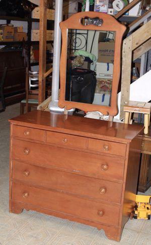 """Ethan Allen Light Brown Dresser w/ Mirror 41.5""""x 18.5"""" x 34.5"""" Mirror 34"""" x 22"""" for Sale in Silver Spring, MD"""