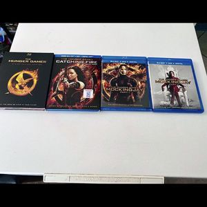 Hunger Games 1-3 BLU-RAY for Sale in Cleveland, OH