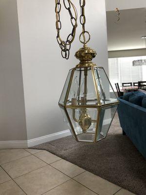 Long Golden Chandelier for Sale in Corona, CA