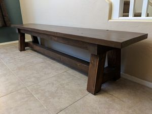 Handmade Wood Truss Benches for Sale in Scottsdale, AZ