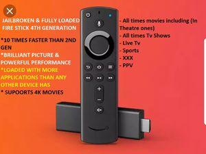 fire tv stick 4th generation (4K HDR) W/New design Alexa remote for Sale in Chicago, IL