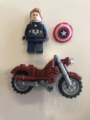 LEGO Minifigure Captain America 76047 With Motorcycle for Sale in Clearwater, FL