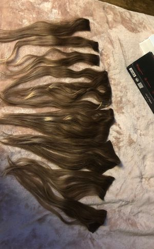 Hair extensions. Remy hair (real hair) 9 piece clip in. 16 inch price dropped again! Make offer, more discount if bought today! for Sale in Hillsboro, OR