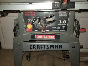 Craftman table saw 3.0 for Sale in Bellflower, CA