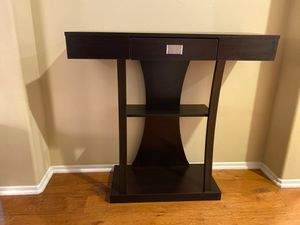 Moving sale! Dark wood entryway table for Sale in Irvine, CA