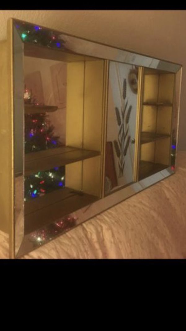 Mirrored Shadow Box Shelf