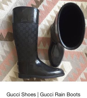 Gucci rain boots size 36 (size 6) 100% real for Sale in Atlanta, GA