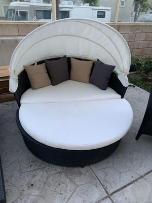 Patio furniture conversational set 499$ no assemble needed aluminum frame easy financing for Sale in Chino Hills, CA