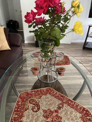Vase with candle holder for Sale in Falls Church, VA