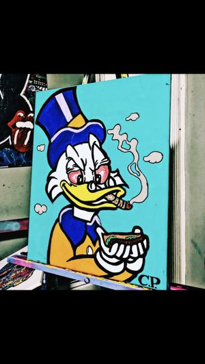Smokey the Scrooge painting 16x24 inch for Sale in Miami, FL