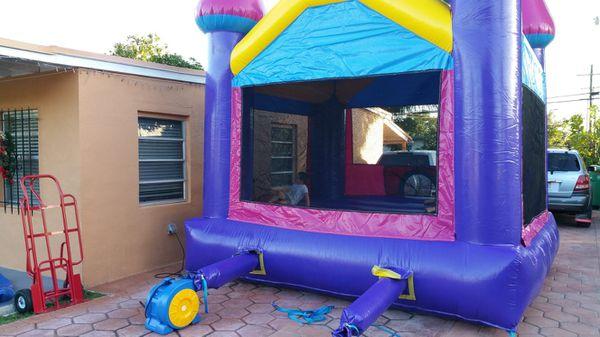 Ninja jump dream castle bounce house