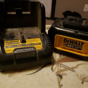 Dewalt 40v 4ah Battery Pack With Charger for Sale in Ellensburg, WA