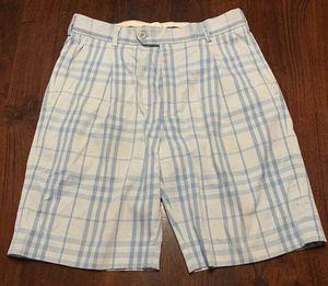 Authentic Burberry Nova Check Plaid Golf Shorts Beige Sleeves Hoodie Jacket Cream Color Brit London $180 Retail size 32 Unisex Men's for Sale in Hoboken, NJ