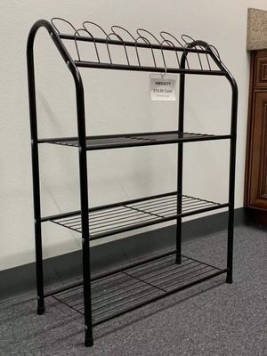 New in box 25x10x36 inches tall steel shoe organizer 4 tier storage metal stand rack for Sale in Los Angeles, CA