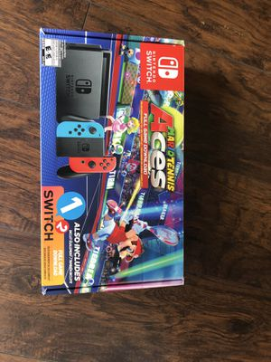 Nintendo switch with Mario tennis and 1 2 switch for Sale in Cornelius, OR