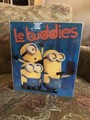3 Ring Notebook Binder With Minions Decorating the Cover for Sale in Jackson, NJ