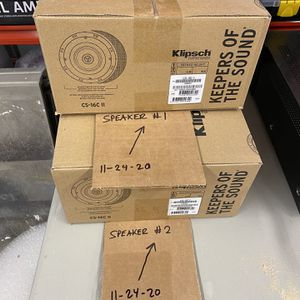 "Klipsch CS-16c II Speaker Pair Sealed In Box Ceiling 6.5"" / Tweeter for Sale in Lakewood, WA"