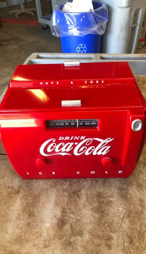 Vintage Coca-cola cooler style AM FM Radio for Sale in Prospect, CT