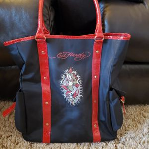 Ed Hardy Vinyl Bag Tote Size .Never Used for Sale in Wyandotte, MI