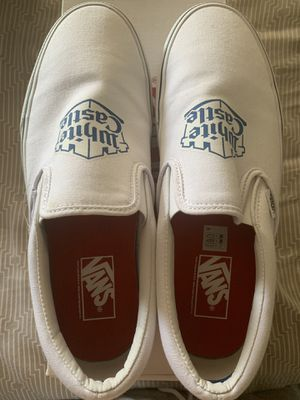 Supreme x White Castle Slip on Vans - Size 9.5 for Sale in Tacoma, WA