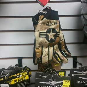 Motorcycle gloves by FIVE padded with armored knuckles, medium large and xl brand new for Sale in San Diego, CA