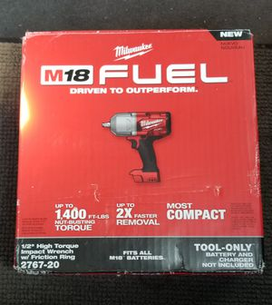 MILWAUKEE M18 HIGH TORQUE BRUSHLESS IMPACT WRENCH NEW for Sale in Jersey City, NJ