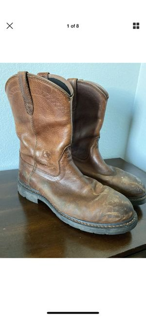 Men's preowned Ariats leather steel toe boots western size 11.5 for Sale in San Diego, CA