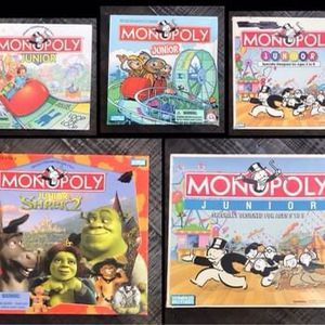 Monopoly Jr Junior Board Game age 5-8 just $3 each for Sale in Port St. Lucie, FL