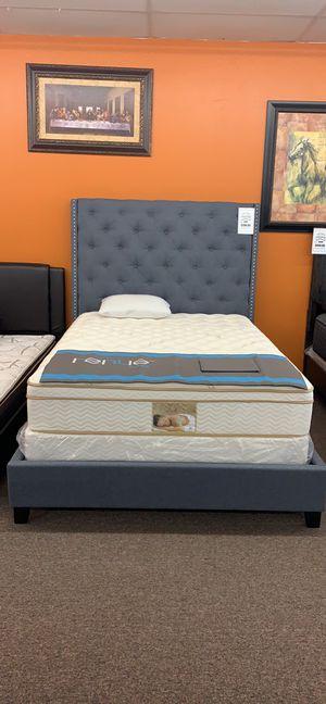 Queen bed frame on sale @Elegant furniture 🎈🛋 for Sale in Fresno, CA