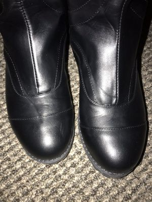 Ladies black tall riding boots size 10- a little narrow. for Sale in Tampa, FL