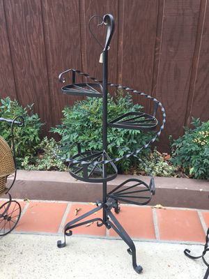 Vintage Metal Wrought Iron Staircase Garden Plant Stand Rack Holder for Sale in San Dimas, CA