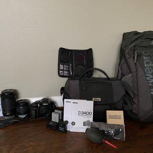 Nikon D3400 Complete Camera Kit for Sale in Hampton, VA