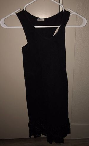 """NEW """"INGEAR"""" BLACK RACERBACK TUNIC OR DRESS WITH LACE BOTTOM for Sale in Denver, CO"""