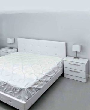 New king bed frame and nightstands mattress is not included for Sale in Lake Worth, FL