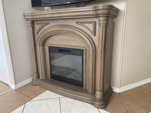 Electric Fireplace Brown for Sale in La Puente, CA