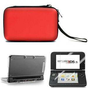 Carrying Bag+Clear Case Cover+Screen Protector for New Nintendo 3DS XL LL Gift Red (3dscasebag-red-USA) for Sale in Riverside, CA