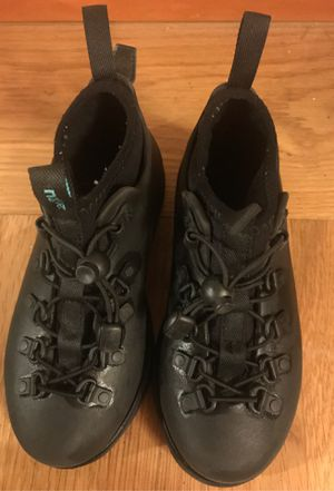 Native Shoes Black Waterproof Rain Boot Shoes Fitzsimmons Exc. Cond sz 12 Kids for Sale in Federal Way, WA
