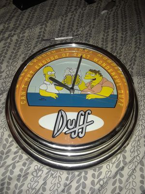Simpsons Homer and Barney Beers cheers clock every hour on the hour .... works great and lights up$20 for Sale in San Bernardino, CA