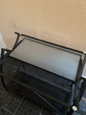 Frosted Glass Computer Stand for Sale in Baton Rouge, LA