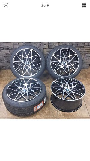 """19"""" Staggered BMW M series Rims Machined black set of 4 for Sale in Utica, MI"""