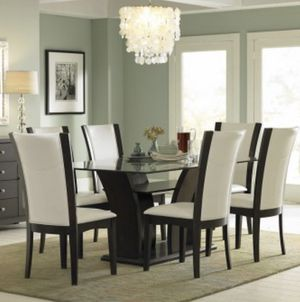 Expresso glass 6 seater dining set for Sale in The Bronx, NY